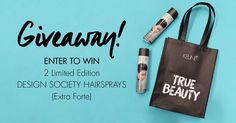 Our Limited Edition Society Extra Forte hairspray got us like...  Enter to WIN TWO here >> http://woobox.com/kviqmx
