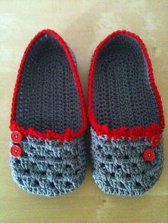 crochet slippers so cool