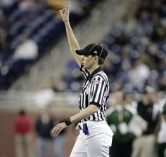 1d471d0cc0c A woman who could become the NFL s first female official is training at New  Orleans Saints training camp this week. Sarah Thomas