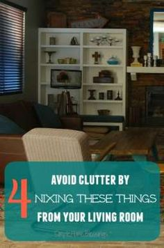 Items to ban from your living room to keep clutter at bay