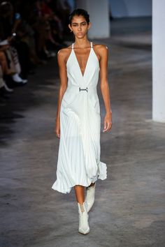 The Best Off-The-Runway Bridal Looks at New York Fashion Week Draped Dress, Lace Dress, Dress Up, White Dress, Fashion Week, New York Fashion, Fashion Show, Greek Fashion, Dion Lee