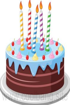 Delicious birthday cake with candle vectors 03 - WeLoveSoLo Birthday Clips, Sunday School Activities, Cute Cartoon Pictures, Birthday Cake With Candles, Aesthetic Stickers, Cake Art, Party Cakes, Happy Birthday, Ice Cream
