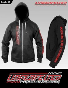 Lingenfelter Vertical Print - Heavy Blend Hoodie - Shop Online - http://www.lingenfelter.com/product/L91573BK.html#.WMAgs_K1L5w (260) 724-2552 #Lingenfelter #Camaro #Corvette #Chevy