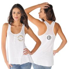 Pittsburgh Steelers Touch Women's Cascade White Tank Top - Official Online Store