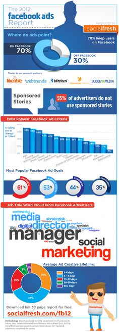 2012 Facebook Ads Report #infographic