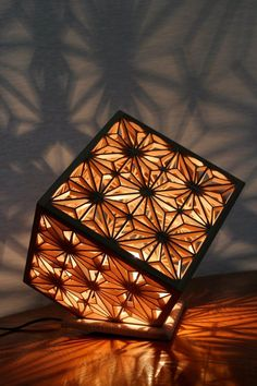 Japanese woodwork lamp