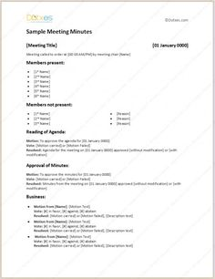 10 Best Meeting Minutes Images Learning Meeting Agenda Template