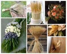 Some of these would be cute for a really country wedding..Wheat inspiration board