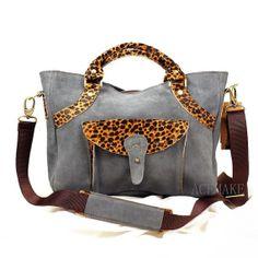 Gray Leather Bag- Leather Satchel Bag-Gray Crossbody Leather Bag-Leather Tote Bag Woman