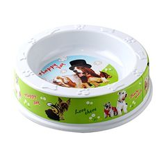 Circular Pet Dog Cat Food Bowl, Food Feeder with Cute Printing * Click image to review more details. (This is an affiliate link and I receive a commission for the sales)