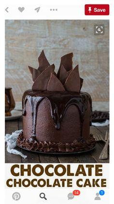Chocolate Lovers, Chocolate Desserts, Chocolate Chocolate, Chocolate Decorations For Cake, Chocolate Birthday Cakes, Chocolate Heaven, Homemade Chocolate, Cake Cookies, Cupcake Cakes