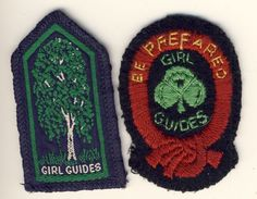 GIRL GUIDE BADGES WOODCRAFT EMBLEM & FELT FIRST CLASS