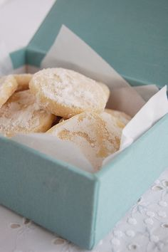 Lemon shortbread~T~ I love anything lemon and these are so good.