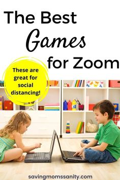 15 virtual games for kids and adults to play on Zoom. These Zoom games are especially great for people who are tired of being stuck inside due to social distancing! Virtual Games For Kids, Kids Activities At Home, Fun Games For Kids, Indoor Activities For Kids, Fun Activities, Games To Play, Toddler Board Games, Board Games For Couples, Adult Games