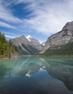 Kinney Lake Reflections by Pat Roque, via 500px - Mount Robson, BC (Second most beautiful place I've been to)