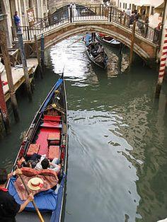 Gondola ride in Venice <3