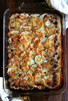 Potato Gratin with Gruyere and Parmesan