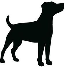 Jack Russell Terrier Standing Side On Looking Up Silhouette Tattoos, Silhouette Clip Art, Animal Silhouette, Silhouette Projects, Dog Stencil, Stencils, Vogel Silhouette, Dog Outline, Dachshund Funny