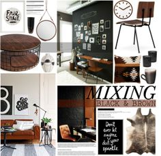 """Mixing: Black and Brown"" by emmy on Polyvore"