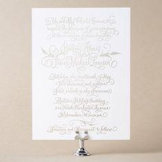 Flourished Natalia Wedding Invitation Design