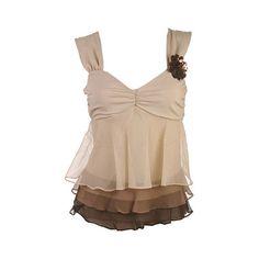 بلايز روعة ❤ liked on Polyvore featuring tops, tanks, blusas, musculosa, beige top and beige tank top