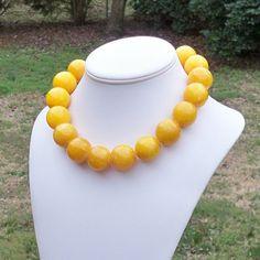 Alanna  Gorgeous Super Chunky Sunny Yellow 25mm Round by Tessyla, $145.00