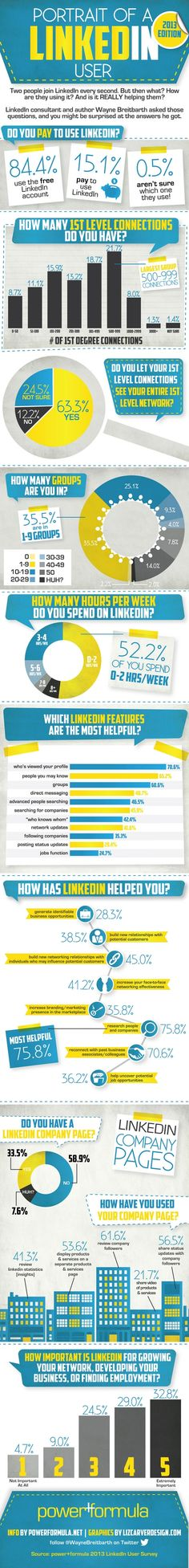 A portrait of a Linkedin User & How They Use the Network Infographic