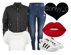 """""""Untitled #80"""" by onlyyc on Polyvore featuring WearAll, H&M, adidas Originals and Lime Crime"""