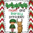 Christmas Math and LIteracy Printables and Activities  Cut and Paste  Included in this packet are listed below:  **Which Elf?  (Probability) **Help...