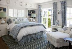 California Beach House  love the nightstand/bookshelf idea