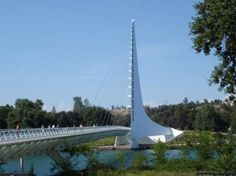 The Sundial Bridge.  It connects two parts of the Turtle Bay Exploration Park.