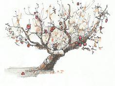 Το δέντρο που έδινε. Μια υπέροχη διδακτική ιστορία! ~ Psychologized - Το μέρος που όλα είναι κομμάτι της Ψυχολογίας Image Types, Apple Tree, Fruit Trees, Drawings, Art, Google Search, Art Background, Kunst, Sketches