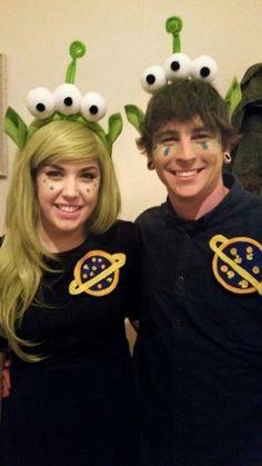 Toy Story Alien Costume Pixar halloween couples costume                                                                                                                                                      More