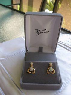SPECTACULAR 1.7 CT 14K YELLOW GOLD DIAMOND & NATURAL FIERY OPAL EARRINGS