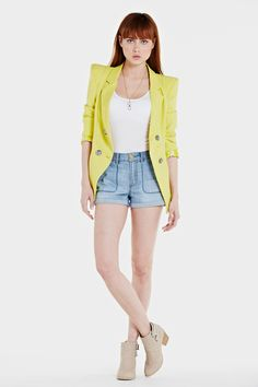Yellow Lace Cuff Blazer  http://stylepiques.com/shop/product/1150