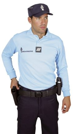 Polo GENDARMERIE Homme manches longues - Gendarmerie Nationale/Tee-shirts / Polos - securicount
