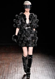 """Alexander McQueen : Fall 2012 Ready to Wear  Sarah Burton has been thinking about """"a beautiful future"""" for fall: """"A kind of soft futurism. Not cold and structured, but optimistic and forward-looking."""" -- Vogue"""