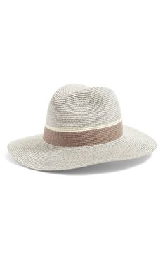Free shipping and returns on Women's Packable Panama Hat at Nordstrom.com. Contrasting stripes hug the brim on this vacation-ready Panama hat that fits perfectly in your suitcase. Hats For Women, Panama Hat, Nordstrom, Stripes, Textiles, Hug, Suitcase, Vacation, Number