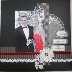happy together scrapbook page idea