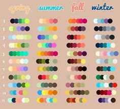 Seasonal Colors - #Colors #exfoliation #Seasonal