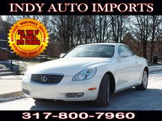 #SpecialOffer #FreeGas | $16,850 | 2002 #LexusSC 430 #Convertible - for Sale in Carmel IN 46032 #IndyAutoImports