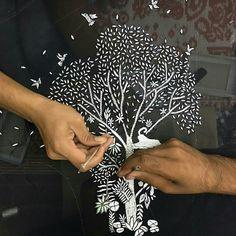 'Bursting Tree' motif @ Rahul Mishra SS2017