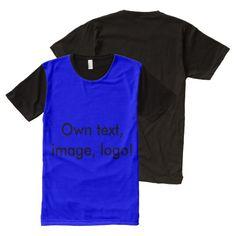 Panel T-shirt Royal Blue and Black
