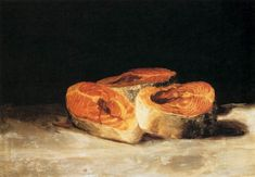 three salmon steaks. goya, 1808-1812.