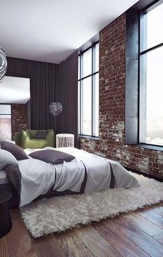 own your morning // bedroom // city suite // interior // home decor // urban living // city loft // wall art // luxury life //
