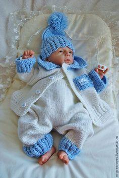 """Купить Комплект для новорожденного """"Blue sky"""" 6в1 - голубой, комплект, для новорожденного, на выписку мальчику"""