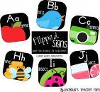 ZB Manuscript Alphabet Line (Flipped Signs) product from LadybugsTeacherFiles on TeachersNotebook.com