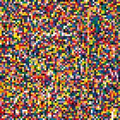 #GerhardRichter 4900 Colours 2007 680 cm x 680 cm Catalogue Raisonné: 901 Enamel on Alu Dibond. 4900 Colours is composed of 196 panels, each of which consists of 25 squares. The panels can be arranged in 11 core configurations (each using all 196 panels), ranging from multiple smaller grid combinations of various sizes to just one large-scale work.