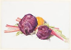 Charles Demuth (American, 1883–1935). Red Cabbages, Rhubarb and Orange, 1929. The Metropolitan Museum of Art, New York. Alfred Stieglitz Collection, 1949 (49.70.57)