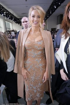 Pretty in pastel: Blake Lively - Michael Kors Collection Fall 2016 Fashion Show Front Row - February 17, 2016